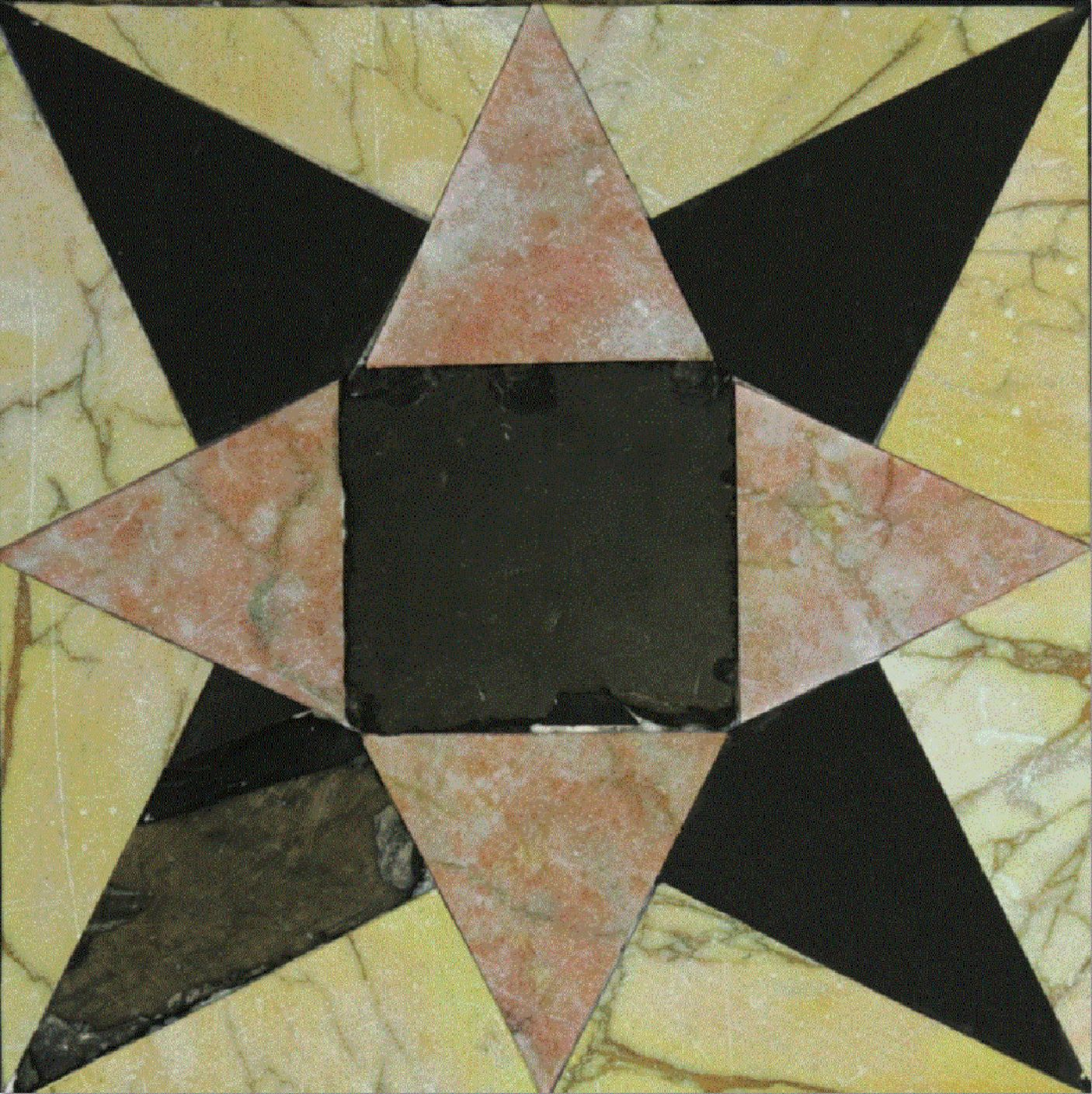 8-Pointed Star Tile from Herod's Second Temple. Photo: Temple Mount Sifting Project.