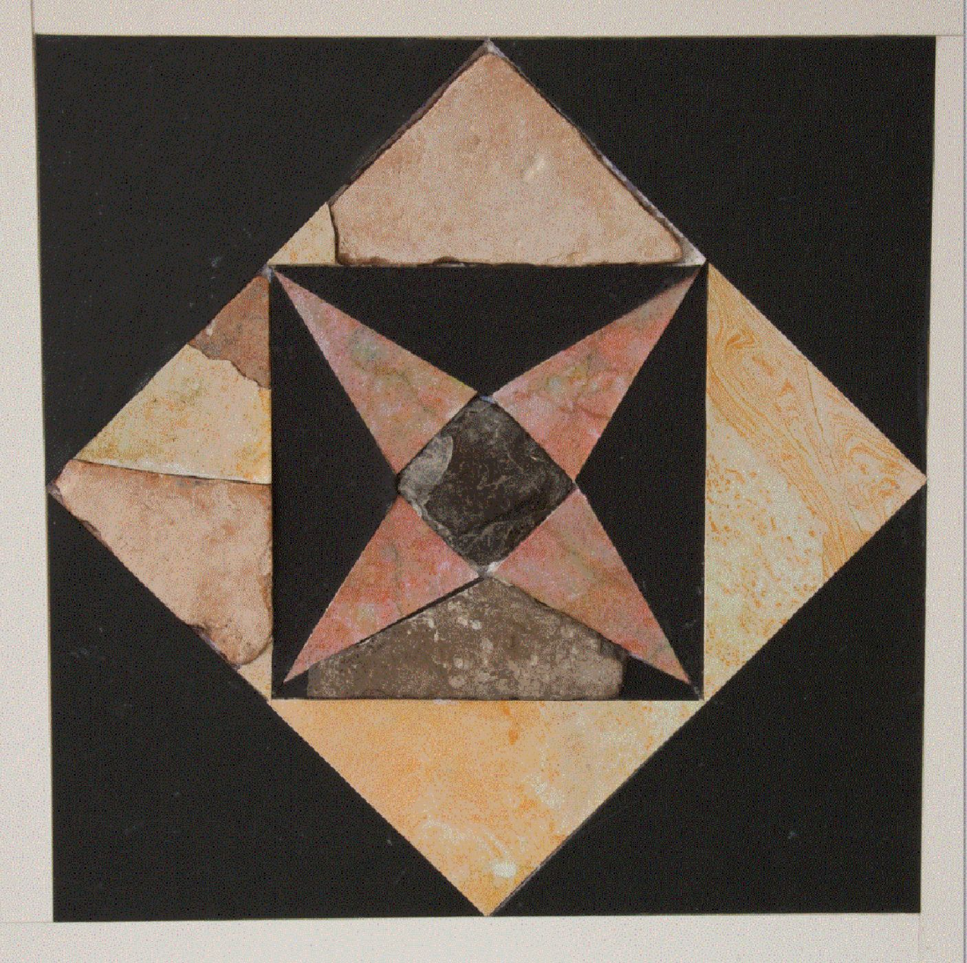 4-Pointed Star Tile from Herod's Second Temple. Photo: Temple Mount Sifting Project.